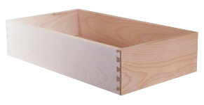 Drawer dox with beech sides, dovetail joints, plywood bottom